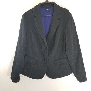 Torrid embroidered texture design black blazer 2